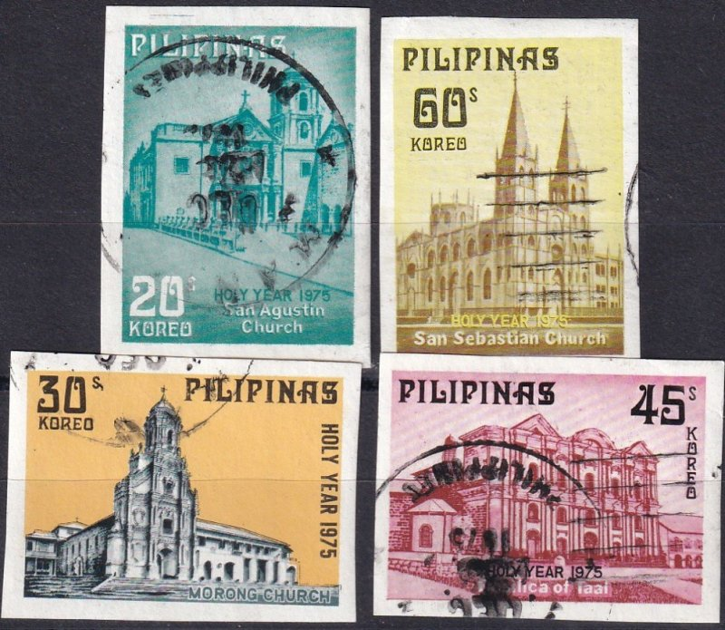Philippines #1281a-1284a F-VF Used CV $6.25 (Z1269)