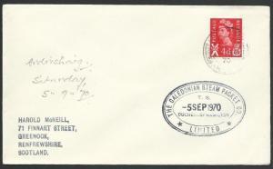 GB SCOTLAND 1970 Clyde Steamer cover DUCHESS OF HAMILTON cachet............47931