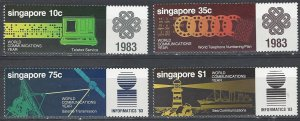 Singapore  430-3  MNH  World Communications Year 1983