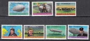 Dominica, Sc 562-568, MNH, 1978, Lindbergh - Zeppelin