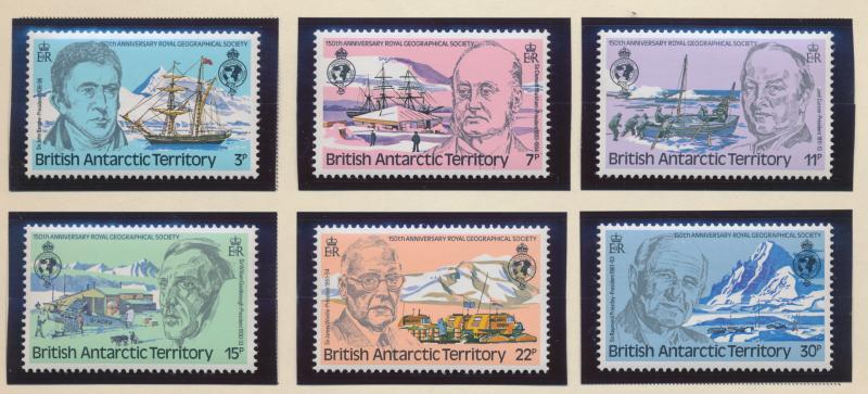 British Antarctic Territory (B.A.T.) Stamps Scott #76 To 81, Mint Never Hinge...