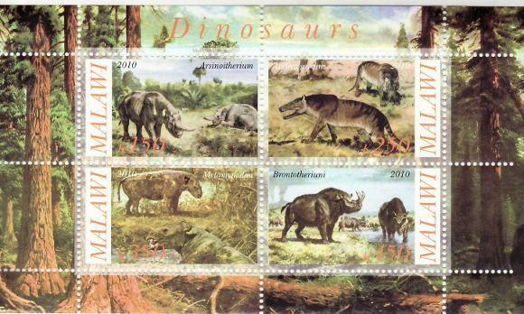 Dinosaurs -  Sheet of 4  - 13K-113