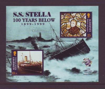 Alderney Sc 127 1999 S.S. Stella stamp sheet mint NH