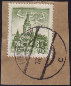Austria - 1960 - Scott #626 - used - KRUMPENDORF pmk
