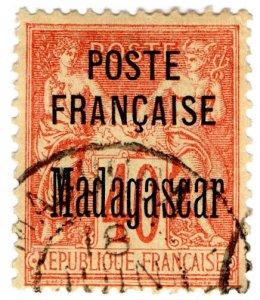 (I.B) Madagascar Postal : Overprint 40c