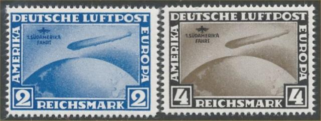 GERMANY #C38 & #C39 MINT FINE-VF NH NACHDRUCK PRINTED ON BACK. IF GOVERNMENT I