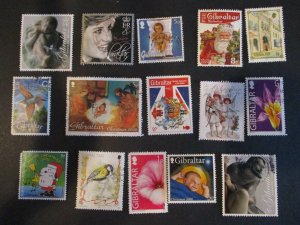 Gibraltar Assortment Used #14- (5D4) WDWPhilatelic