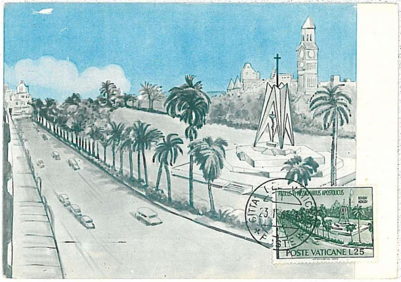 MAXIMUM CARD - POSTAL HISTORY -  VATICANO: Autos, Religion, Architecture, 1965