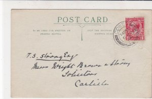England 1922 Cowes Cancel Information Received Stamp Card to Carlisle Ref 34858