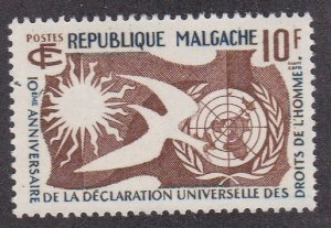 Malagasy # 300, Declaration of Human Rights 10th Anniversary, NH, 1/2 Cat.