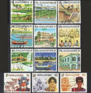 SINGAPORE 1990 Tourism (short set to $5) used