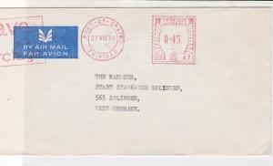 Trinidad & Tobago 1970 Barclays Bank Trinidad Cancel Airmail Stamps Cover R17670