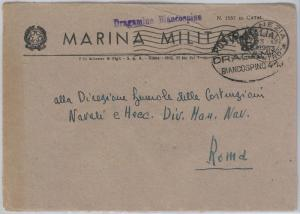 ITALY -  POSTAL HISTORY COVER - Military Marine Ship - FLOWERS Trees : hawthorn