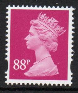Great Britain Sc MH399 2010 88p cerise QE II Machin Head stamp mint NH