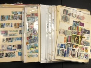 Worldwide Stamps On Stock Pages British Colonies & More