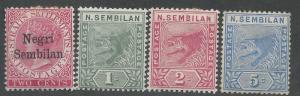 NEGRI SEMBILAN 1886 QV 2C PLUS TIGER SET WITH 2C SHORT N VARIETY