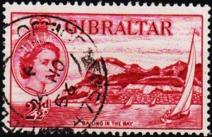 Gibraltar. 1953 2 1/2d  S.G.149a Fine Used
