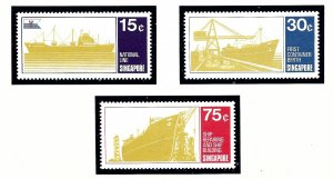 Singapore 126-28 MNH 1970 Singapore Shipping Industry