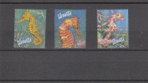 Vanuatu  Scott#  838-840  MNH  (2003 Sea Horses)