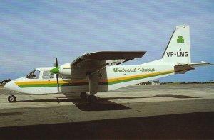 7558 Aviation Postcard  MONTSERRAT AIRWAYS BN-2A VP-LGM  Airlines