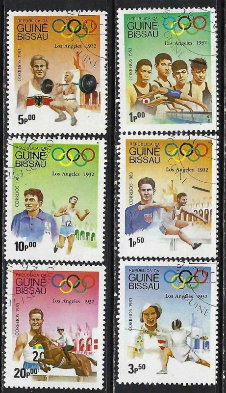 GUINEA BISSAU 489-94 CTO OLYMPICS M1285