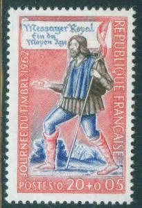 FRANCE Scott B358 MNH** 1962 stamp day Semi Postal