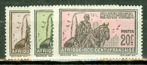 M: Burkina Faso  43-65 mint CV $96.25; scan shows only a few