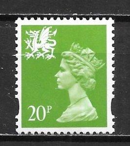 Great Britain Wales WMMH59 20p Machin MNH