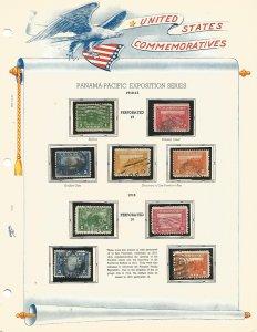 USA Postal Stamps Used Panama Pacific