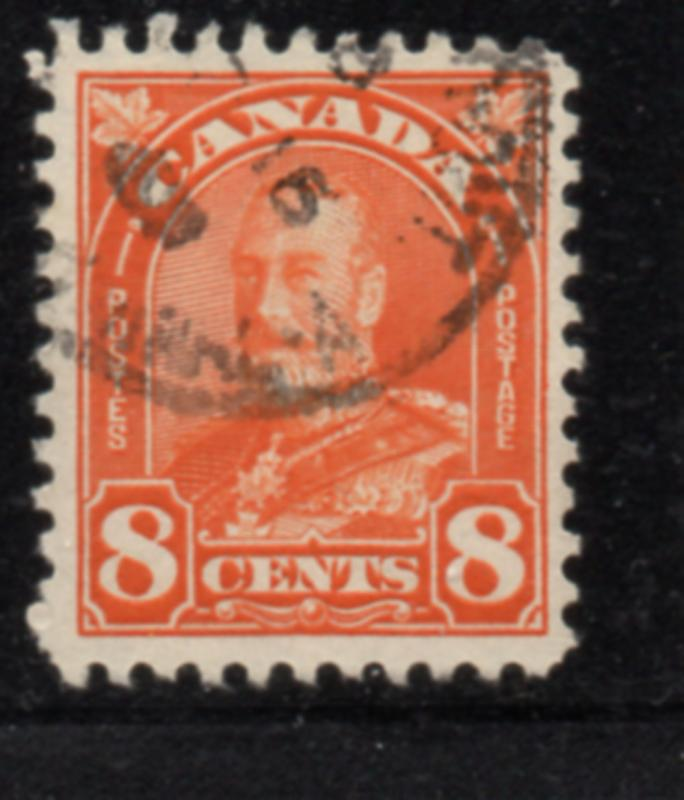 Canada Sc 172 1930 8 c red orange G V Arch issue stamp used