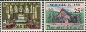 Norfolk Island 1966 SG74-75 Mission set MNH