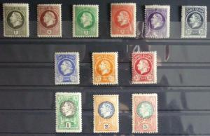 1921-MONTENEGRO-GAETA-FULL SET-12 VALUES WITHOUT OVERPRINT (MNH)-RARE! italy J10