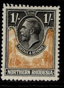 NORTHERN RHODESIA GV SG10, 1s yellow-brown & black, M MINT.