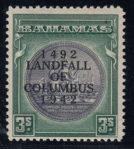 Bahamas, SG 173b, MLH Stop After Columbus variety, w/ 2020 BPA cert