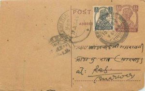 India India Card Cover Postal stationery