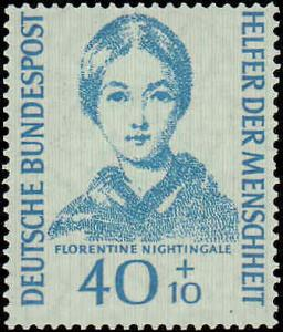 1955 Germany #B344-B347, Complete Set(4), Never Hinged