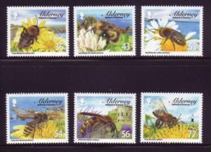 Alderney Sc 338-43 2009 Bees stamp set mint NH