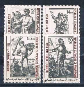 Mauritania 407-10 Used set Engravings 1979 (HV0006)