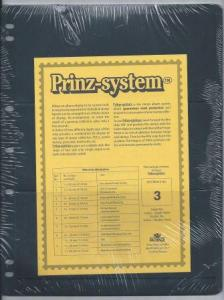 Prinz (Hagner-style) Single-side B3 Stock Sheets 3 pocket (8½x11) Pack of 10