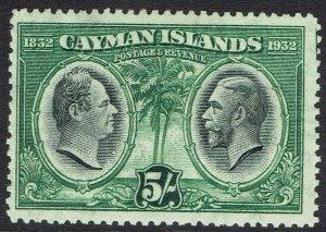 CAYMAN ISLANDS 1932 CENTENARY 5/-
