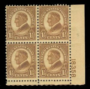 U.S. PLATE BLOCKS 633  Mint (ID # 75514)