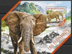 Niger MNH S/S Elephants 2014