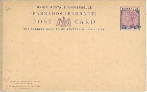 LIONS : POSTAL STATIONERY: BARBADOS - HIGGINGS & G #7