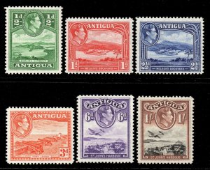 Antigua 1938 KGVI P / Juego (6v Nuevo