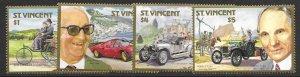 St Vincent 1044-47   1987  set  4  VF NH