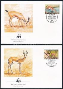Libya stamp WWF Gazelle set 4 FDC Cover 1987 Mi 1753-1756 WS244392