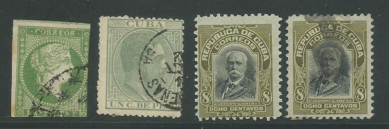 Group of 4 Used Cuba