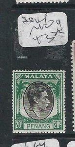 MALAYA PENANG   (P2206B)   KGVI   20C  SG 14  MOG