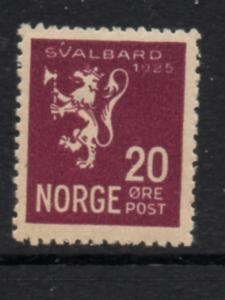 Norway Sc 113 1925 20 ore Lion, Annexation of Spitsbergen, stamp mint