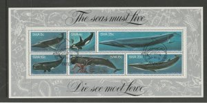 South West Africa 1980 Whales MS FU SG MS344